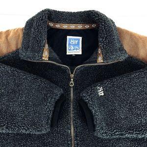 Vintage Alf Kuhl Men's Sherpa Retro Fleece Jacket